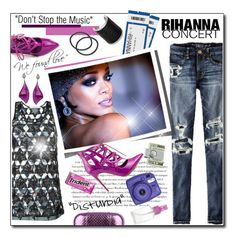 """""""RIHANNA CONCERT"""" by court8434 ❤ liked on Polyvore featuring Envi, American Eagle Outfitters, Givenchy, American Coin Treasures, Penny Sue, KOTUR, MICHAEL Michael Kors and Rihanna"""