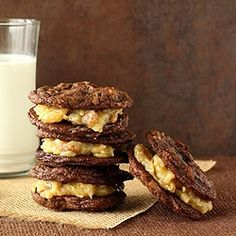 German Chocolate Sandwich Cookies by chocolatemoosey