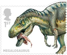 Dinosaur Stamps  Issued Oct 2013-   Megalosaurus