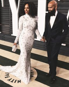 The Fergusons at Vanity Fair Oscar Party, 2015.