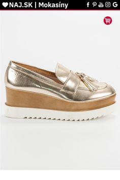 Zlaté mokasíny na platforme Corina Sperrys, Boat Shoes, Tommy Hilfiger, Gucci, Platform, Fashion, Moda, Fashion Styles