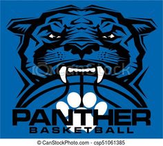 Vector - panther basketball - stock illustration, royalty free illustrations, stock clip art icon, stock clipart icons, logo, line art, EPS picture, pictures, graphic, graphics, drawing, drawings, vector image, artwork, EPS vector art