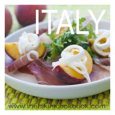 Prosciutto and mozzarella peaches from the bikini cookbook ITALY