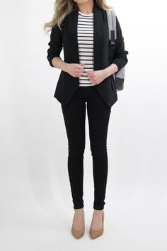 1 month of business casual work outfit ideas for women Trajes Business Casual, Business Casual Outfits For Women, Best Casual Outfits, Business Outfits, Office Outfits, Business Attire, Office Wardrobe, Formal Outfits, Business Formal