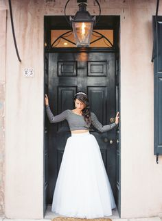 This fashion-forward bride went in the opposite direction of traditional for her bridal portraits Wedding Attire, Wedding Bride, Erin Gray, Couture Skirts, Alternative Wedding Dresses, Charleston Sc, Bridal Portraits, Groomsmen, Necklace Lengths