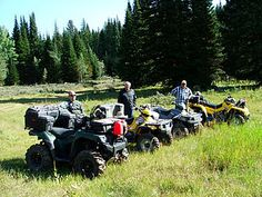 This is a Photo of my father, and friends on a atv ride on Curtis Creek Trail
