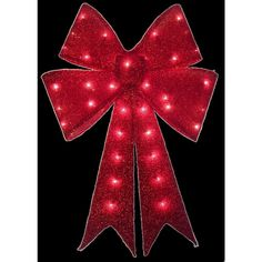 Home Accents Holiday 24 In Pre Lit Red Tinsel Bow 914 The pertaining to size 1000 X 1000 Lighted Christmas Bows Outdoor - If You're Trying to Find Exterior Christmas Lights, Led Christmas Lights, Christmas Ribbon, Xmas, Christmas Wine, Christmas Wreaths, Merry Christmas, Christmas Ornaments, Solar Flood Lights
