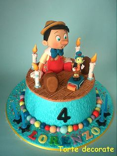 Pinocchio Birthday Cake. This is awesome!!!