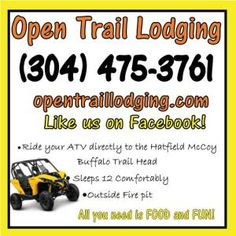 Open Trail Lodging and Red Barn Hospitality in Hatfield McCoy WV