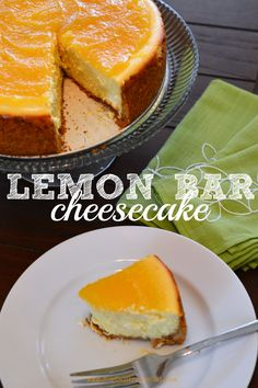 This lemon bar cheesecake recipe is by far my favorite cheesecake to make. It& super decadent, rich, lemony and delicious - all the things I love in a great cheesecake! Cheesecake Desserts, Lemon Desserts, Lemon Recipes, Cookie Desserts, Dessert Recipes, Drink Recipes, Lemon Head, Pie Crumble, Campfire Food
