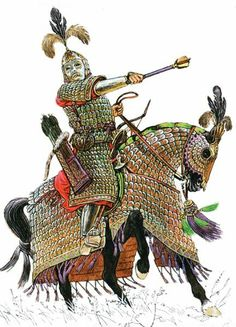 A mongol Elite cavalryman or commander.Magnificently equipped in steel lamellar . Medieval Armor, Medieval Fantasy, Medieval Life, High Fantasy, Lamellar Armor, Golden Horde, Armadura Medieval, Classical Antiquity, Fantasy Inspiration