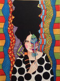 """to slow down this seemingly nonstop july"" by Hülya Özdemir Arte Pop, Art And Illustration, Arte Inspo, Instalation Art, 3d Prints, Art Plastique, Portrait Art, Painting Inspiration, Female Art"