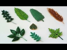 Quilling Basic Shapes - Leaves (8 different types ) Paper Quilling Art - YouTube