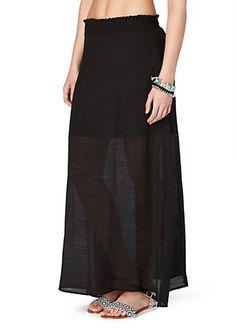 image of Smocked Waist Gauze Maxi Skirt
