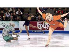 HAHAHAH haikyuu!! on ice <ahaha I haven't ( and I plan not to) watch yoi