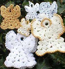 Crochet Shell Angel, Ravelry: Shell Angel pattern by Helen Free