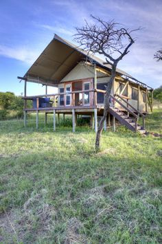 Luxury Safari tent at The Springbok Lodge in South Africa