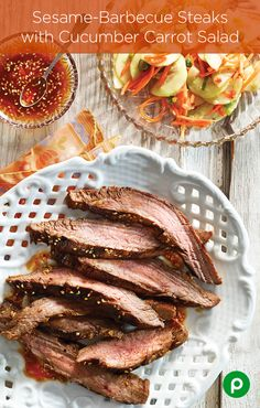 If you're a steak lover, Publix Aprons Simple Meals has found a way to increase the awesome with Sesame-Barbecue Steaks. Just add some garlic, red pepper flakes, ginger root, and a few other ingredients to marinate a little magic.