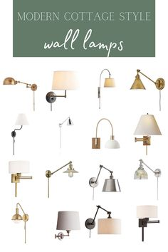Our Favourite Modern Cottage Style Swing Arm Wall Lamps (& They're All Under $250!) Modern Cottage Style, Swing Arm Wall Lamps, Home Decor Inspiration, Decor Ideas, Living Room Decor, Lights, Interior Design, Funky Junk, Mountains