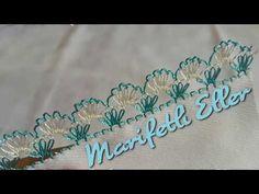 İğne Oyası Saray Süpürgesi Modeli Yapılışı (Pırpırlı Badem) - YouTube