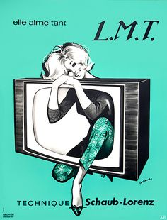 greedylittlepig - retroadvertising:    	1960 … love my TV! by James...