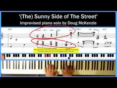 'Sunny Side of the Street' - solo jazz piano tutorial (+playlist)
