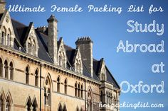 """""""The Ultimate Female Packing List for Study Abroad in Oxford"""" via herpackinglist.com"""
