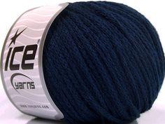 Limited Edition Fall-Winter Yarns Kışlık Yün Worsted Zincir lacivert  İçerik 50% Yün 50% Akrilik Navy Brand Ice Yarns fnt2-51480
