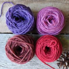 Sweet Berries- naturally dyed merino by Timber and Twine
