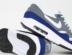 #Nike Air Max 1 Grey Blue