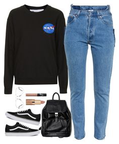 """""""NASA Badge Sweatshirt."""" by cheerstostyle ❤ liked on Polyvore featuring Tee and Cake, tarte, NARS Cosmetics, Ray-Ban, Vans and Vetements Pretty Dresses For Teens, Stylish Dresses For Girls, Outfits For Teens, Cool Outfits, Casual Outfits, Teenage Fashion Brands, Teen Fashion, Korean Fashion, Fashion Outfits"""
