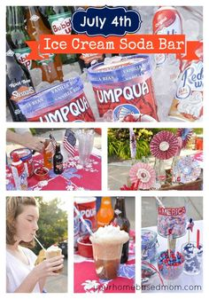 ice cream soda bar - perfect for 4th of July or any holiday!