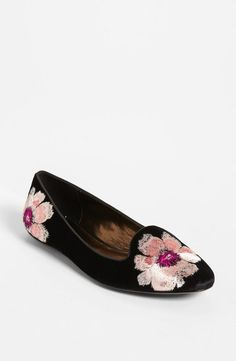Unique floral loafer.