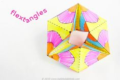 Make these paper toys and be mesmerized by the colorful action! Based on flexagons and kaliedocycles.