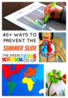 Camp Invention is a wonderful option to prevent the summer slide but here are over 40 other activities for you to try!
