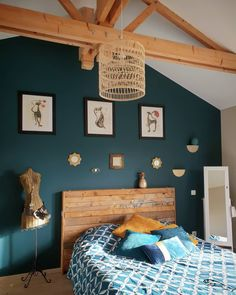 colors to paint a bedroom ideas \ colors to paint a bedroom + colors to paint a bedroom ideas + colors to paint a bedroom colour schemes + colors to paint a bedroom small rooms Bedroom Colors, Bedroom Decor, Bedroom Ideas, Interior Design Minimalist, Blue Walls, New Room, Interior Design Living Room, Paint Colors, Sweet Home