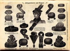 Vintage Ephemera: Fur hats, muffs, collars and stoles - 1900
