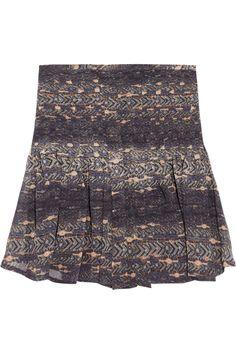 Isabel Marant|Printed silk-georgette mini skirt|NET-A-PORTER.COM
