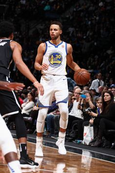 Stephen Curry of the Golden State Warriors handles the ball against the Brooklyn Nets on November 19 2017 at Barclays Center in Brooklyn New York. Stephen Curry And Daughter, Stephen Curry Family, Stephen Curry Poster, Stephen Curry Photos, Nba Stephen Curry, Basketball Moves, Basketball Pictures, Basketball Players