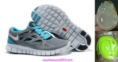 2013 New Free Runs 2 Size 12 Cool Grey White Anthracite Chlorine Blue