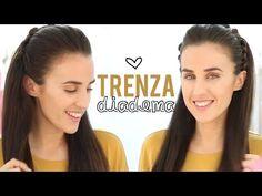 Trenza diadema con nudos | Peinados fáciles - YouTube