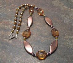 Brown And Copper Elegant Necklace With Brown by SpiritualPathways, $20.00