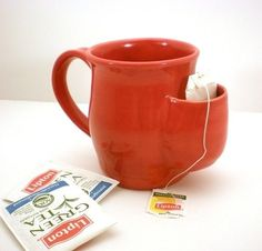 Mugs with room for your tea bag. | 20 Ingenious Solutions You Wish You'd Thought Of First