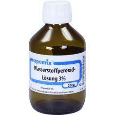 WASSERSTOFFPEROXID 3 prozent DAB 10 Lösung:   Packungsinhalt: 200 g Lösung PZN: 06171642 Hersteller: apomix PKH Pharmazeutisches Labor…