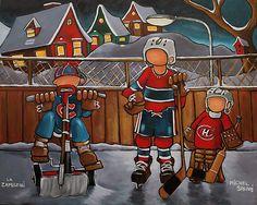 hockey Montreal Canadiens, Cool Art, Illustration Art, Superhero, Sports, Kids, Logan, Fictional Characters, Paintings