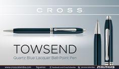 Bolígrafo TOWSEND Quartz Blue Lacquer Ball - Point Pen
