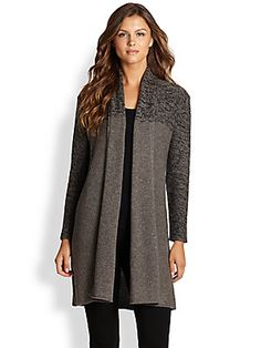 Eileen Fisher Luxe Long Cardigan Sweater
