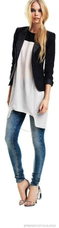 Are jeans really needed with this? Maybe fun black short shorts! Love!