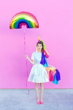 DIY Lisa Frank Halloween Costumes. #rainbowpower