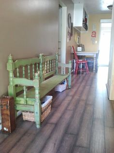 DIY bench from twin size bunk bed